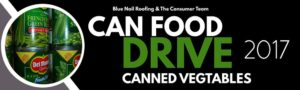 Blue Nail Roofing Can Food Drive