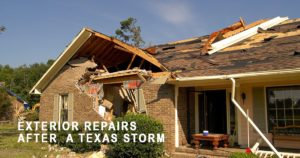 Repairing Damage After A Texas Storm